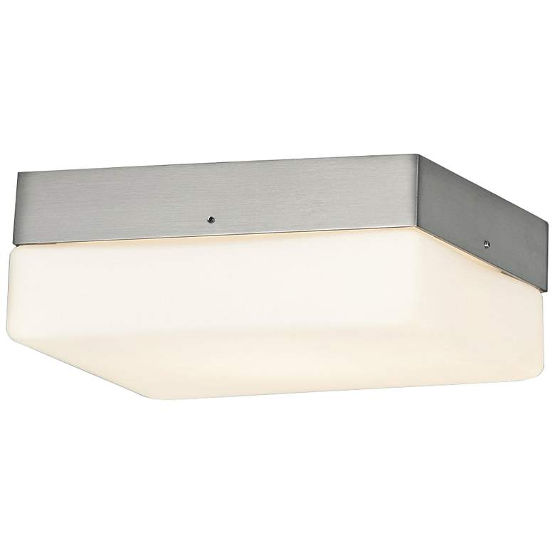 """Fusion™ Pixel 7"""" Wide Nickel Square LED Ceiling Light"""
