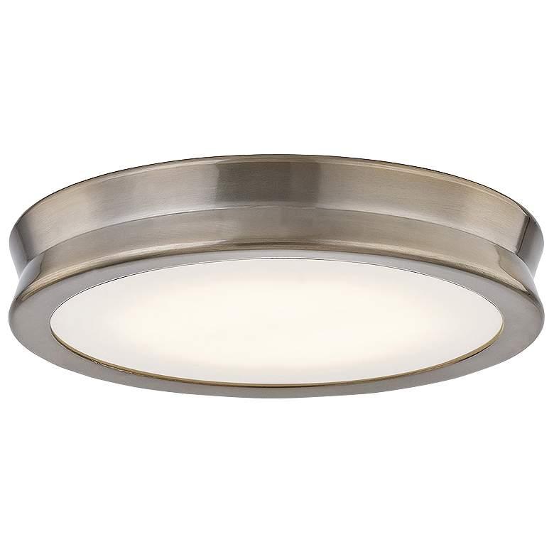 "Fusion™ Bevel 8 1/2""W Brushed Brass LED Ceiling Light"