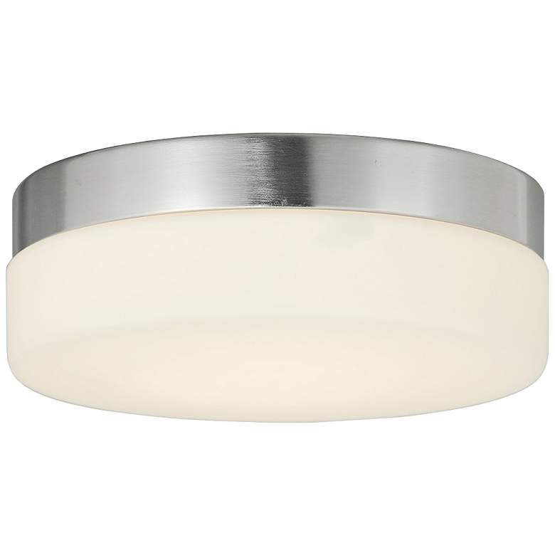 "Fusion™ Pixel 9"" Wide Nickel Round LED Ceiling Light"