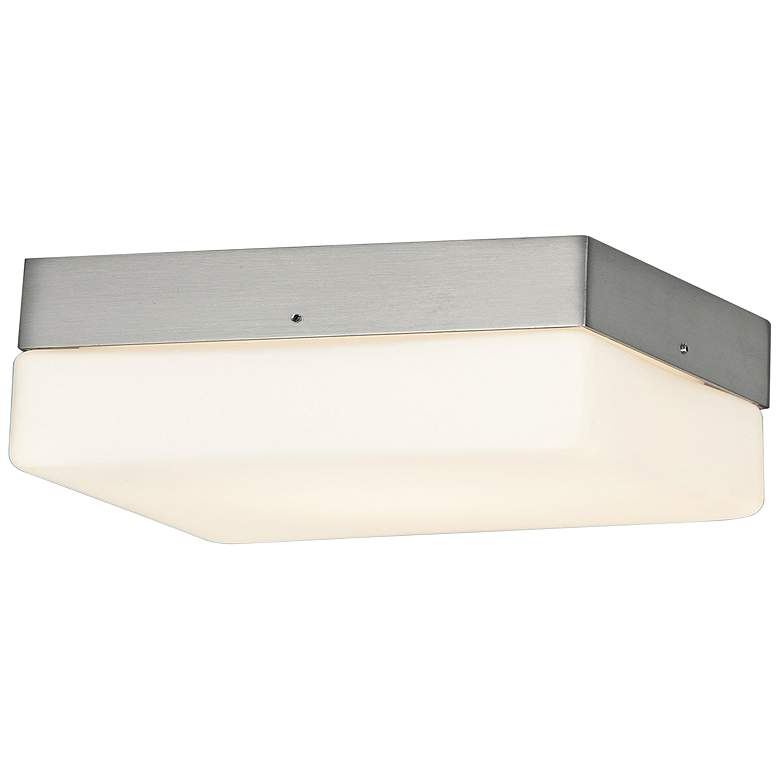 """Fusion™ Pixel 9"""" Wide Nickel Square LED Ceiling Light"""