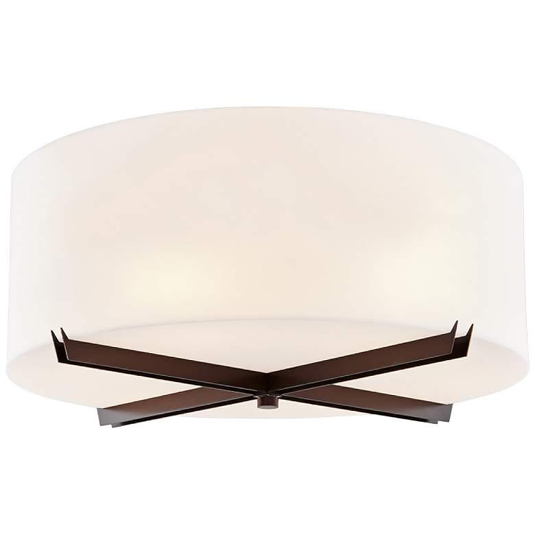 "Acryluxe™ Crossbar 24"" Wide Dark Bronze Ceiling Light"