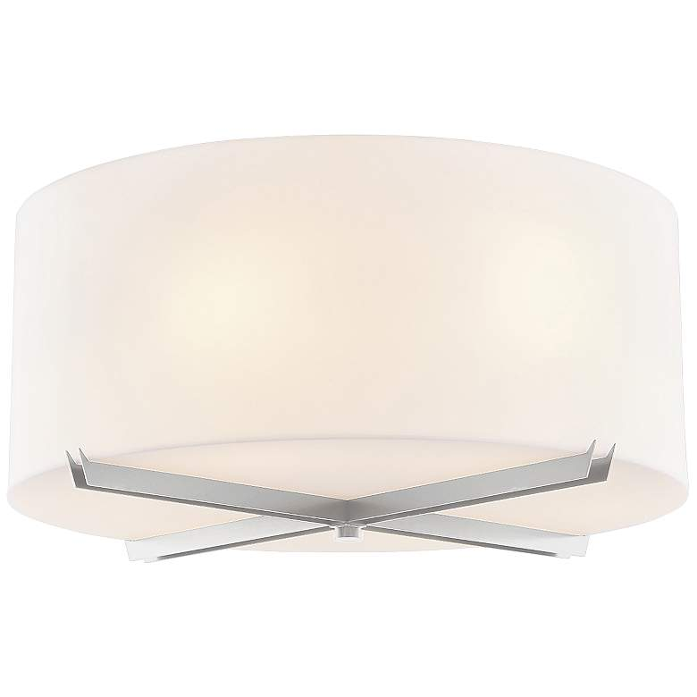"Acryluxe™ Crossbar 24""W Brushed Nickel Ceiling Light"