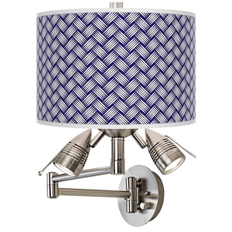 Color Weave Giclee Plug-In Swing Arm Wall Lamp