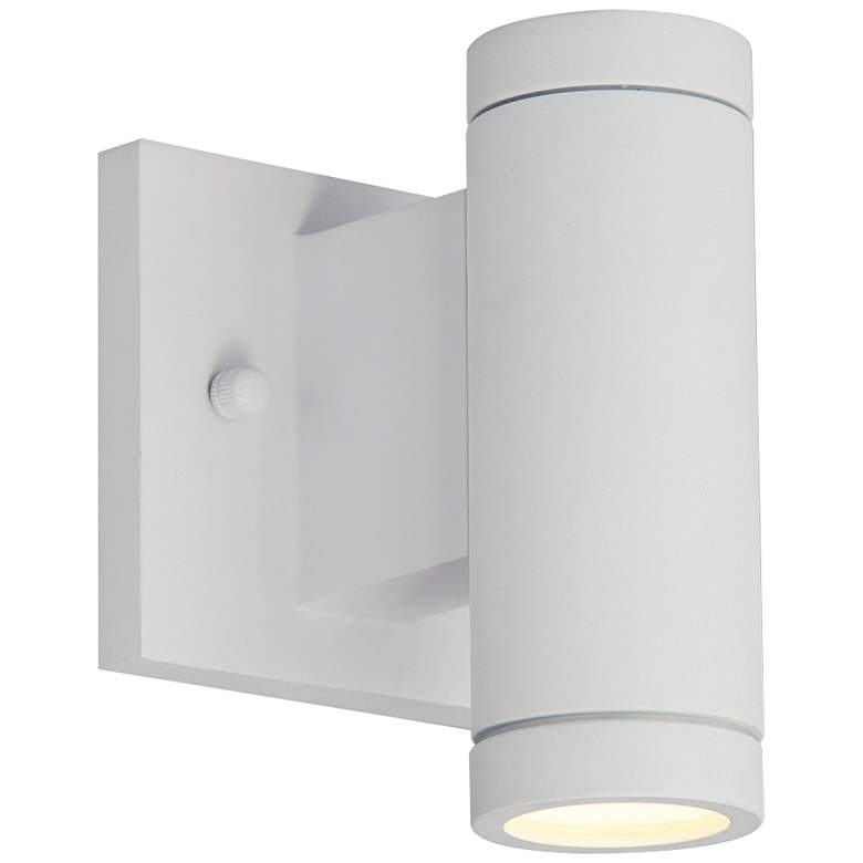 """Portico 6 1/2"""" High Matte White LED Outdoor Wall Light"""