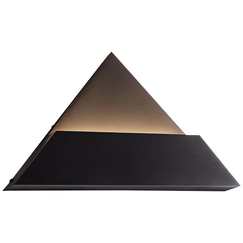 """Justice Design Prism 9"""" High Matte Black LED Wall Sconce"""