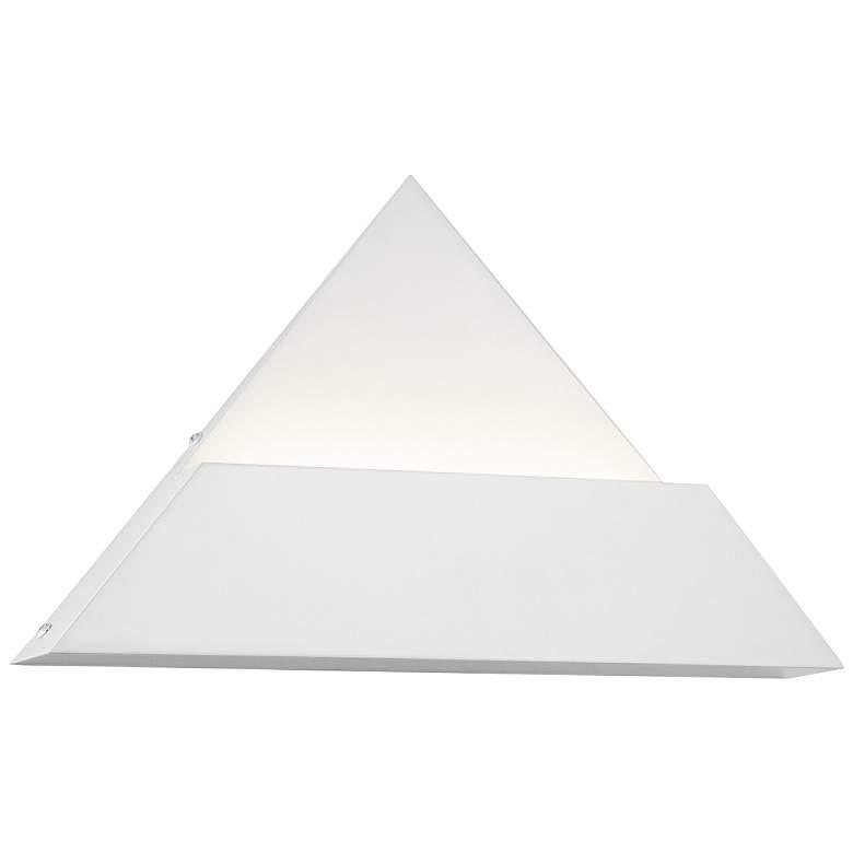 "Justice Design Prism 9"" High Matte White LED Wall Sconce"