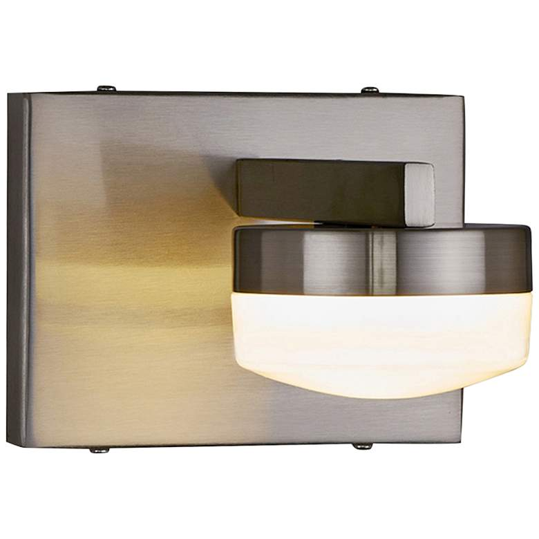 "Fusion™ Puck 4 1/2""H Brushed Nickel LED Wall Sconce"