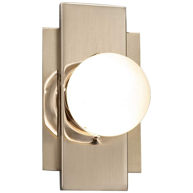 """Fusion™ Luna 7 1/4"""" High Brushed Brass LED Wall Sconce"""