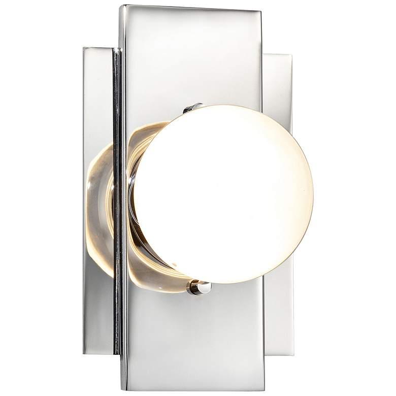 """Fusion™ Luna 7 1/4""""H Polished Chrome LED Wall Sconce"""