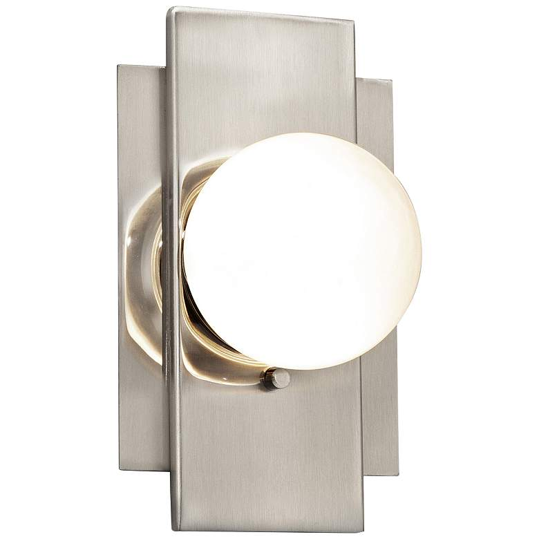 """Fusion™ Luna 7 1/4""""H Brushed Nickel LED Wall Sconce"""