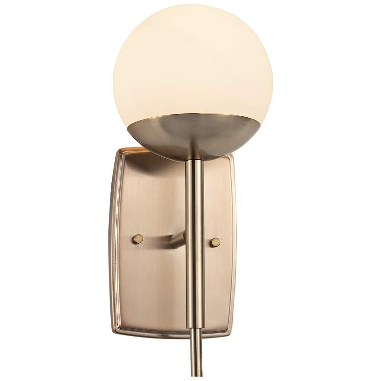 """Fusion™ Epoch 12 1/2"""" High Brushed Brass Wall Sconce"""