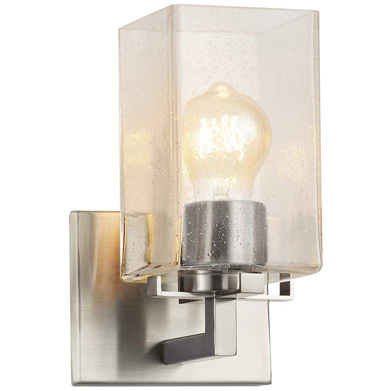 """Fusion™ Vice 9"""" High Brushed Nickel Wall Sconce"""