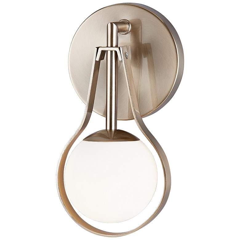 """Fusion™ Pearl 10"""" High Brushed Brass LED Wall Sconce"""