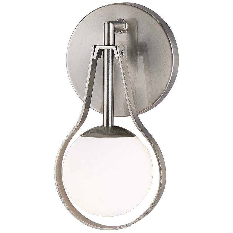 """Fusion™ Pearl 10"""" High Brushed Nickel LED Wall Sconce"""
