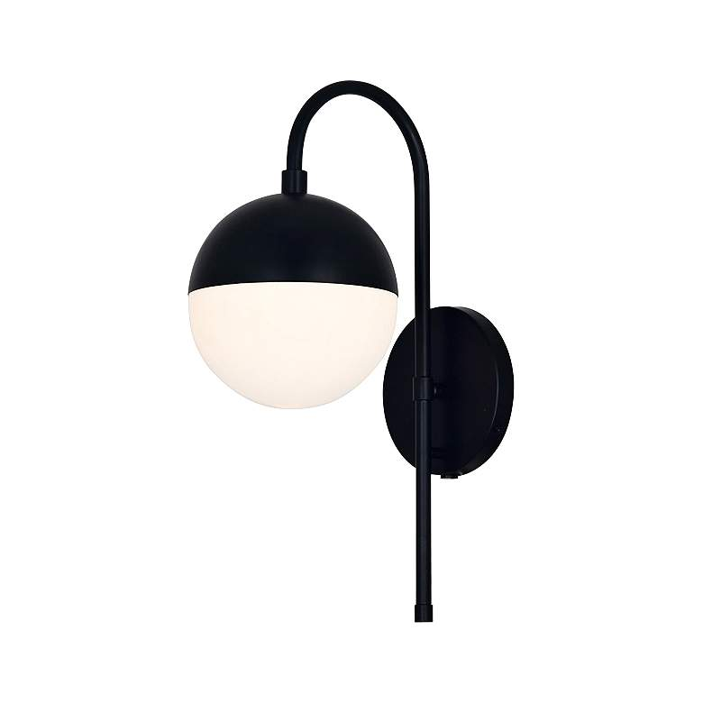 """Fusion™ Ion 16"""" High Matte Black LED Wall Sconce"""