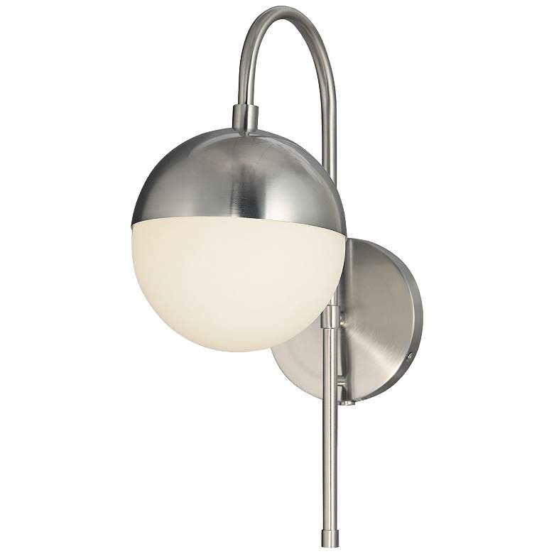 """Fusion™ Ion 16"""" High Brushed Nickel LED Wall Sconce"""