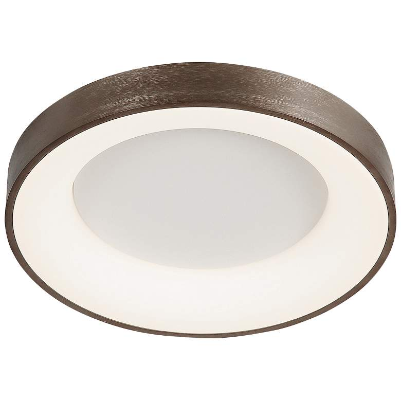 """Acryluxe™ Sway 19"""" Wide Light Bronze LED Ceiling Light"""