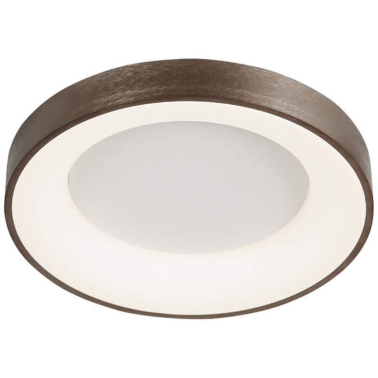 """Acryluxe™ Sway 24"""" Wide Light Bronze LED Ceiling Light"""