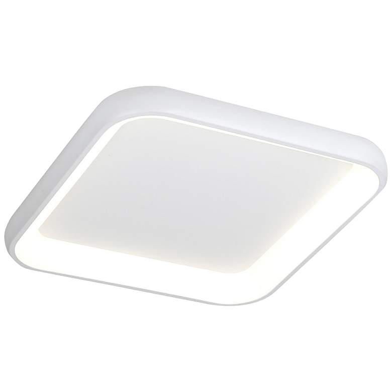 "Acryluxe™ Polaris 25""W Matte White LED Ceiling Light"