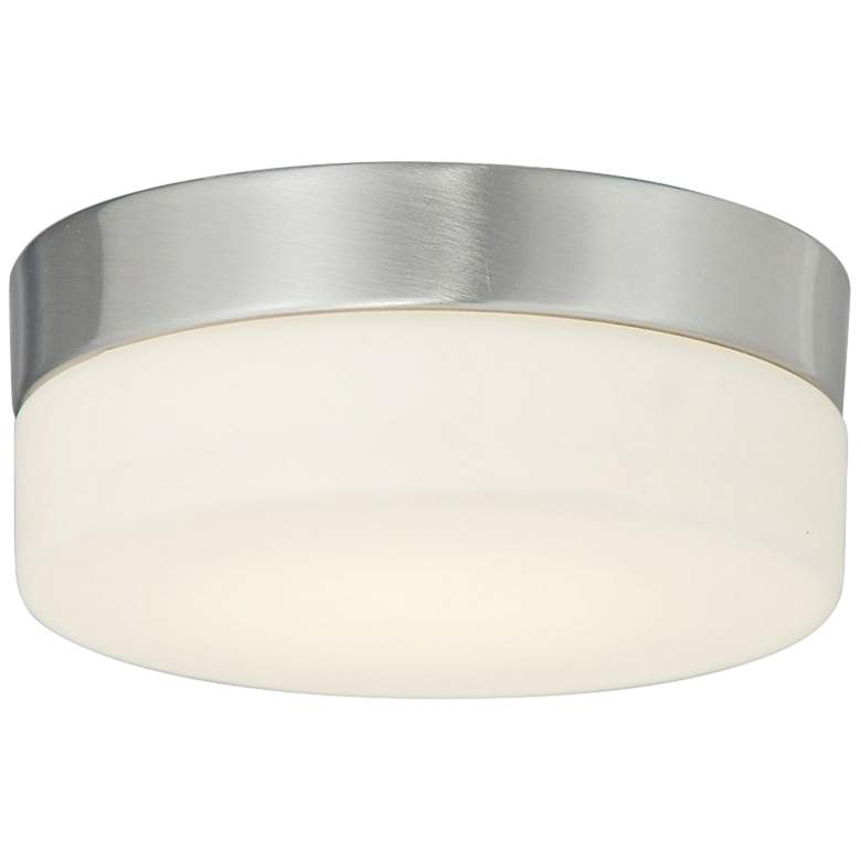 """Fusion™ Pixel 5"""" Wide Nickel Round LED Ceiling Light"""