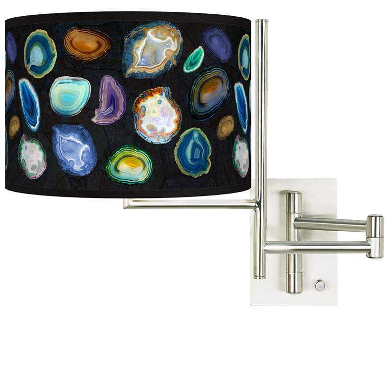 Tempo Agates and Gems II Plug-in Swing Arm Wall Lamp