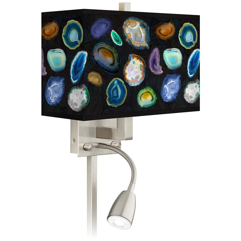 Agates and Gems II Giclee Glow LED Reading Light Plug-In Sconce