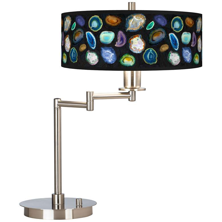 Agates and Gems II Giclee CFL Swing Arm Desk Lamp