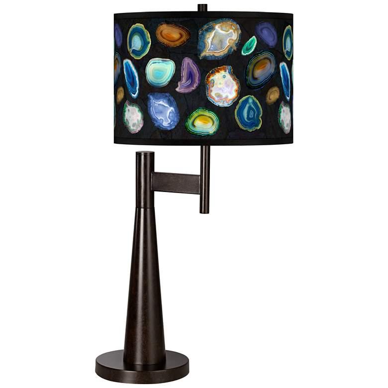 Agates and Gems II Giclee Novo Table Lamp