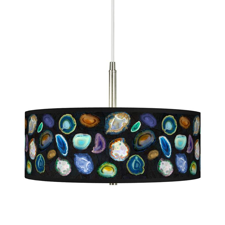 Agates and Gems II Giclee Pendant Chandelier
