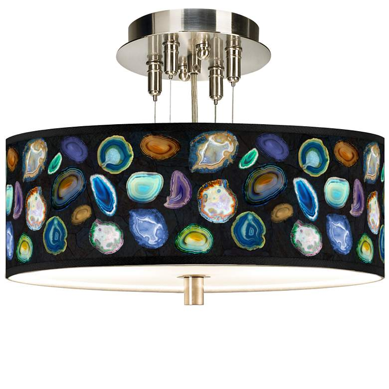 "Agates and Gems II Giclee 14"" Wide Ceiling Light"