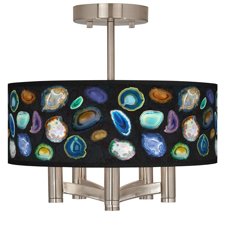 Agates and Gems II Ava 5-Light Nickel Ceiling Light