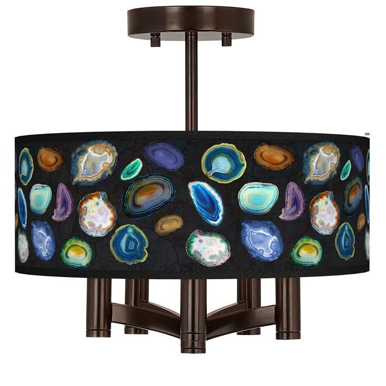 Agates and Gems II Ava 5-Light Bronze Ceiling Light
