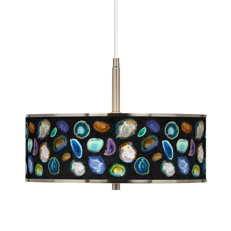 """Agates and Gems II Giclee Glow 16"""" Wide Pendant Light"""
