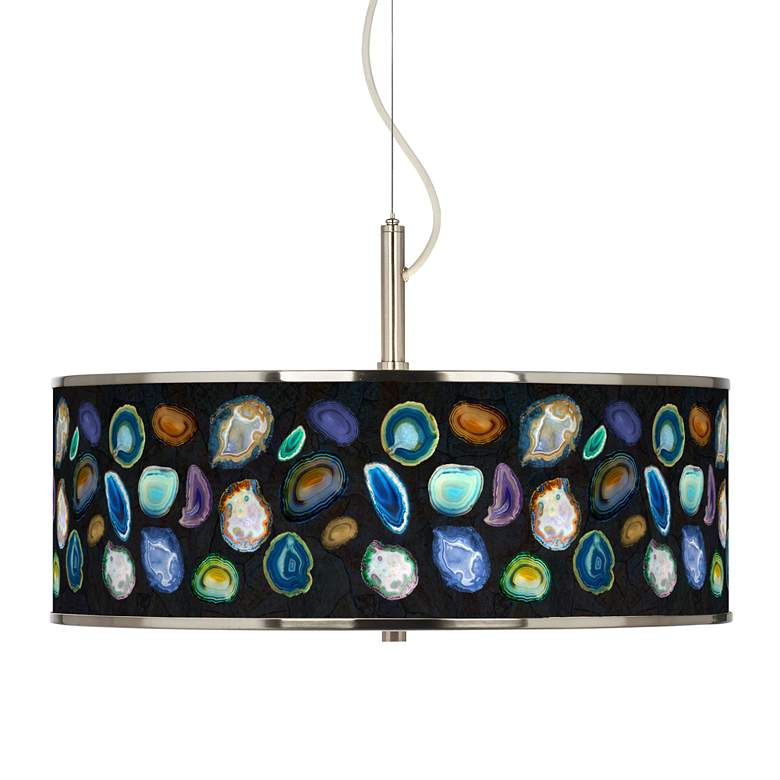 """Agates and Gems II Giclee Glow 20"""" Wide Pendant Light"""