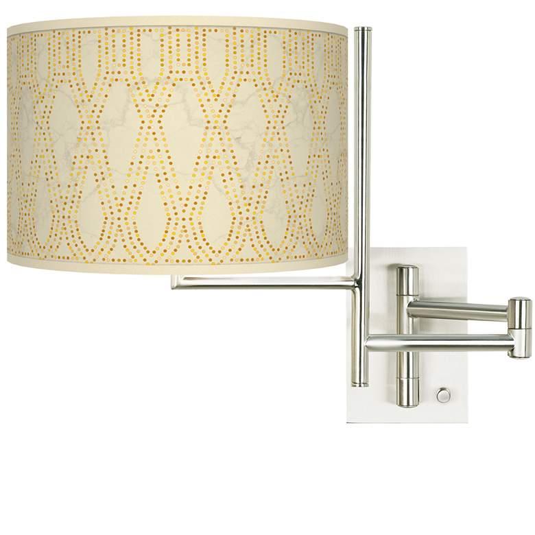 Tempo Roman Pebbles Plug-in Swing Arm Wall Lamp