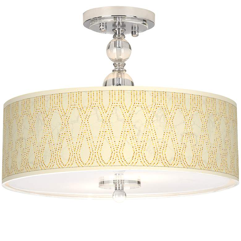 "Roman Pebbles Giclee 16"" Wide Semi-Flush Ceiling Light"