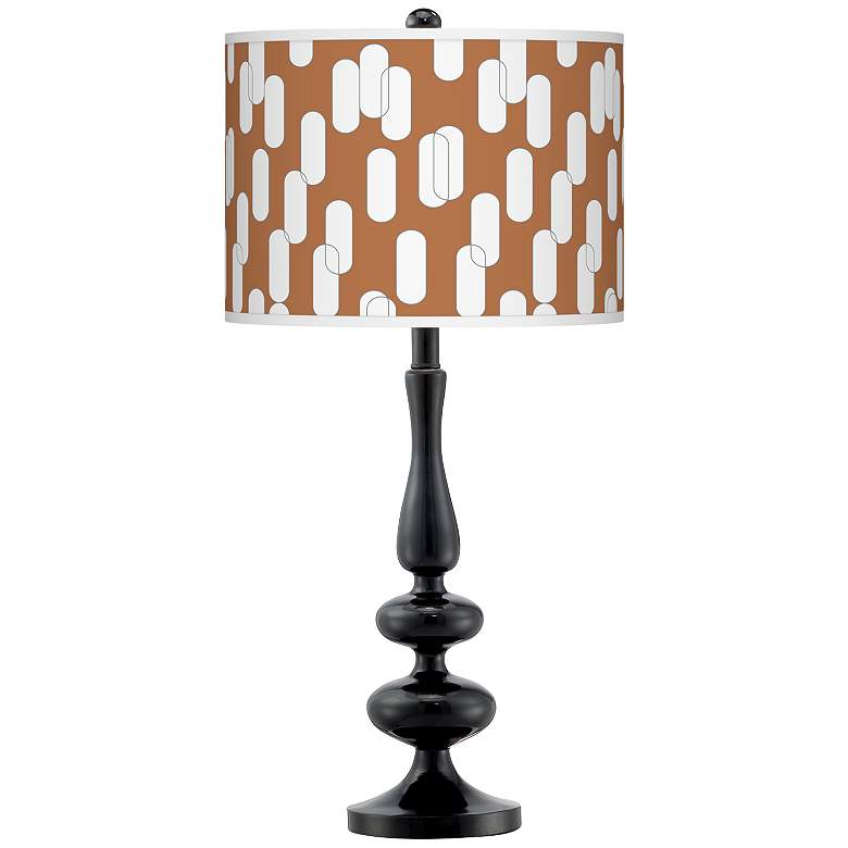 Ovals II Giclee Paley Black Table Lamp
