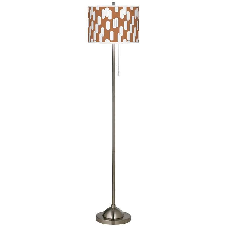 Ovals II Brushed Nickel Pull Chain Floor Lamp