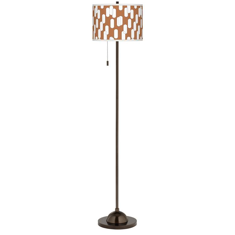 Ovals II Giclee Glow Bronze Club Floor Lamp