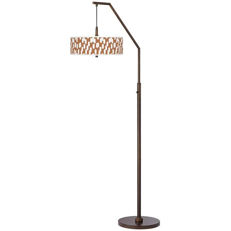 Ovals II Bronze Downbridge Arc Floor Lamp