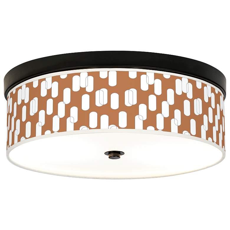 Ovals II Giclee Energy Efficient Bronze Ceiling Light