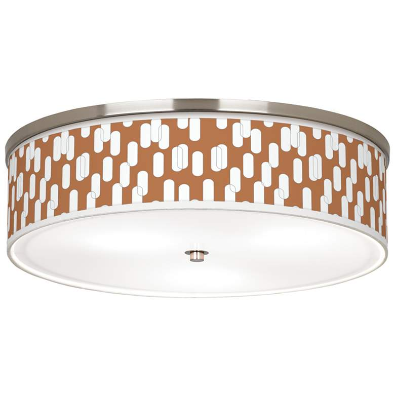 "Ovals II Giclee Nickel 20 1/4"" Wide Ceiling Light"