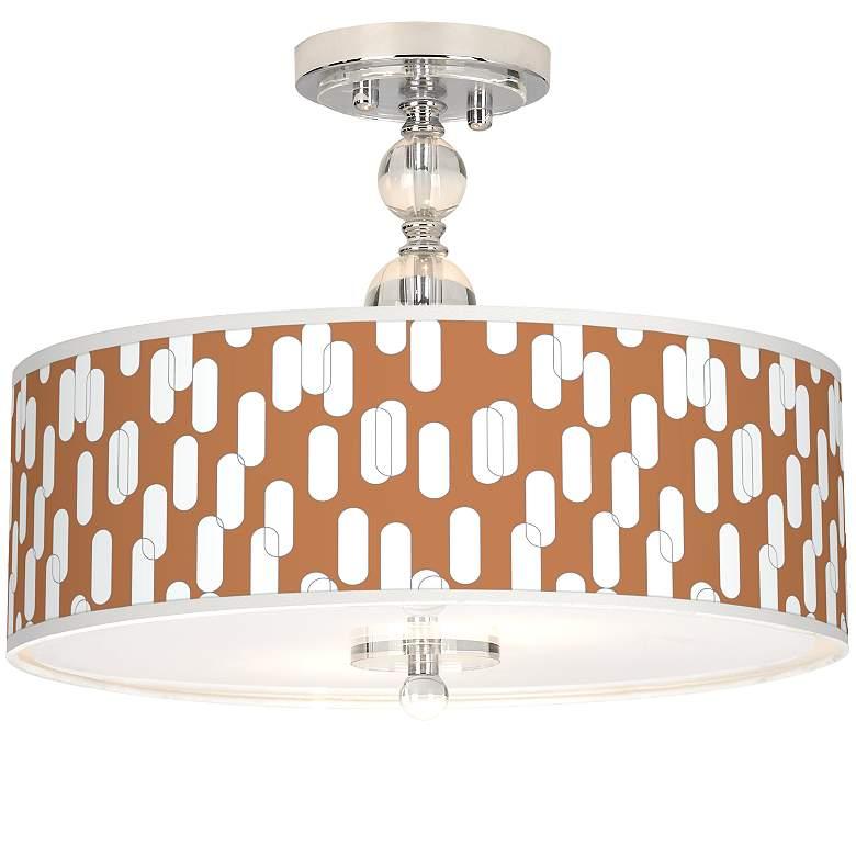 "Ovals II Giclee 16"" Wide Semi-Flush Ceiling Light"