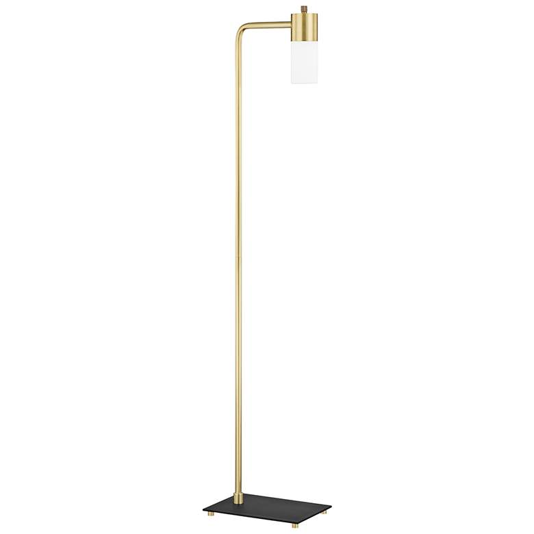 Mitzi Lola Aged Brass Metal LED Floor Lamp