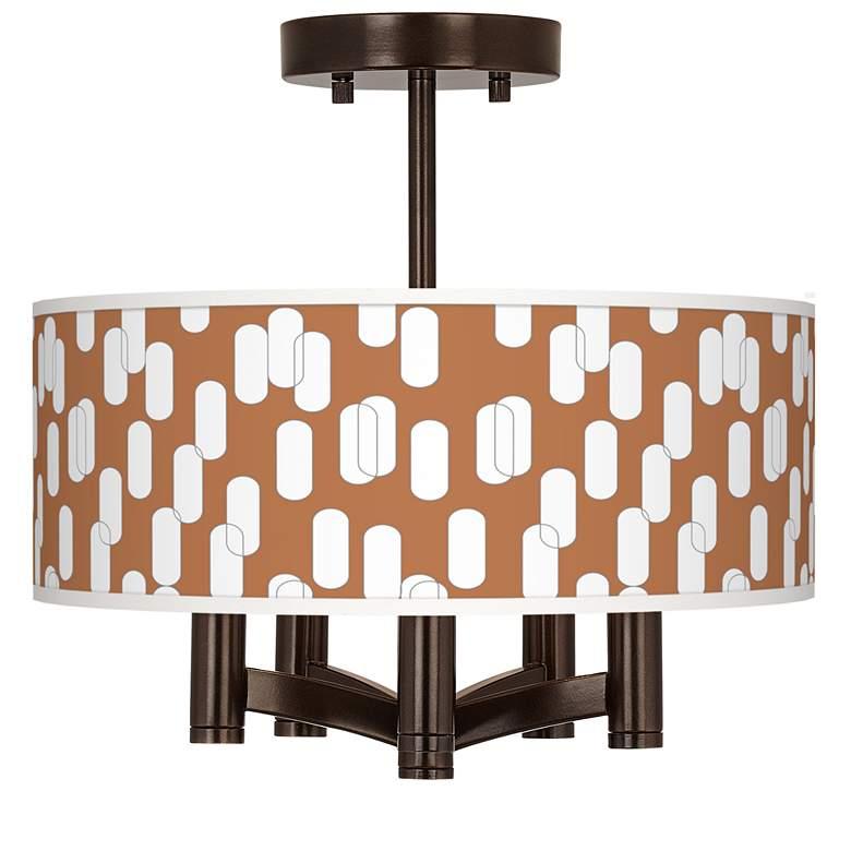 Ovals II Ava 5-Light Bronze Ceiling Light