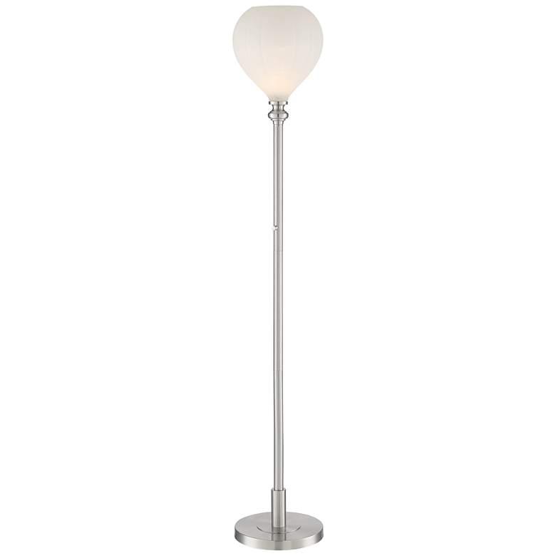 Apollo Ribbed Glass Torchiere Floor Lamp by Possini Euro Design