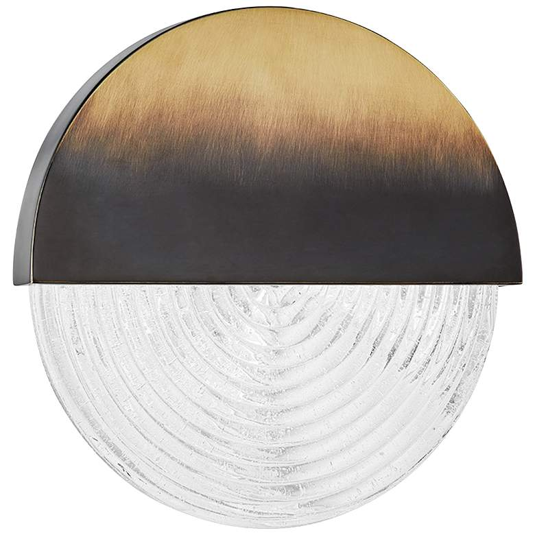 """Hudson Valley Walden 10 3/4""""H Gradient Brass LED Wall Sconce"""