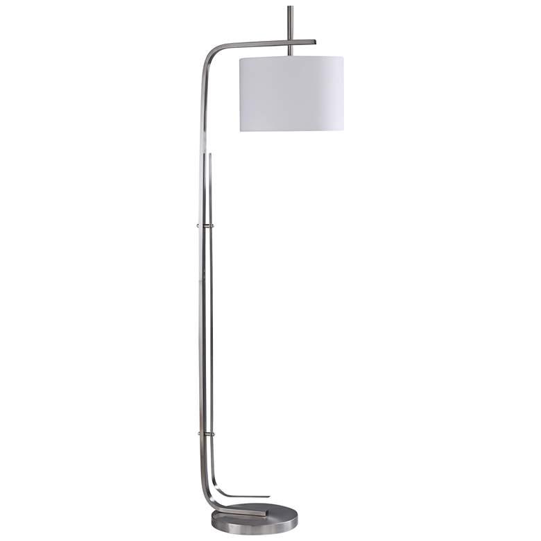 Bennett Chrome Metal Floor Lamp