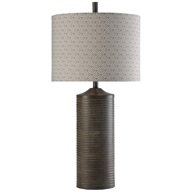 Berkley Dark Charcoal Lazer Cut Metal Uplight Floor Lamp