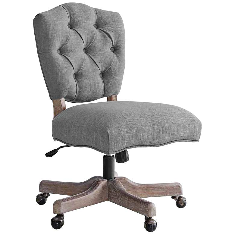 Katie Gray Tufted Adjustable Swivel Office Chair